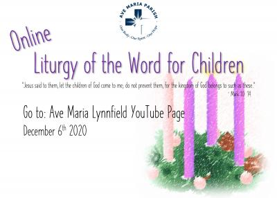 Virtual Children's Liturgy of the Word Flyer 12/06/20