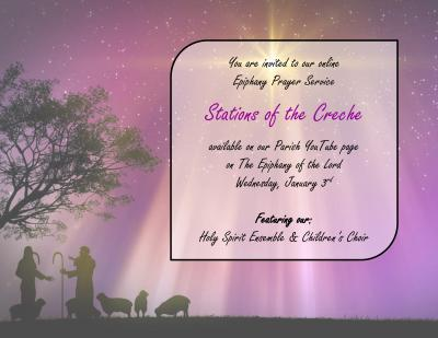 Online Prayer Service Stations of the Creche Flyer horizontal 01/03/21