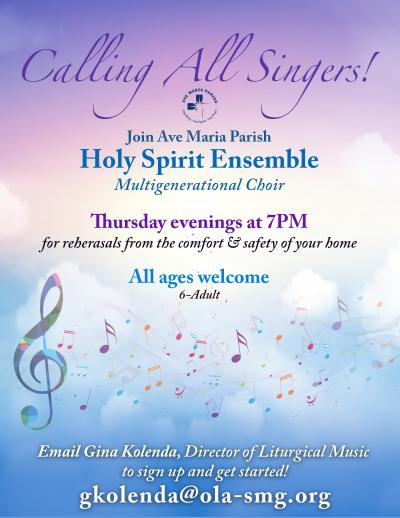 Holy Spirit Ensemble Virtual 2020-2021
