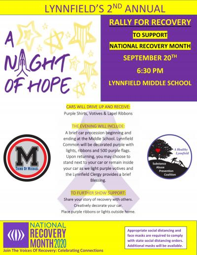 Night of Hope Recovery Rally Flyer 09/20/20
