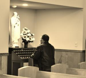 Prayer St. Therese at SMG sepia