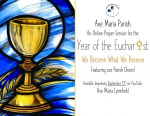 Online Prayer Service for Year of the Eucharist 09/13/20
